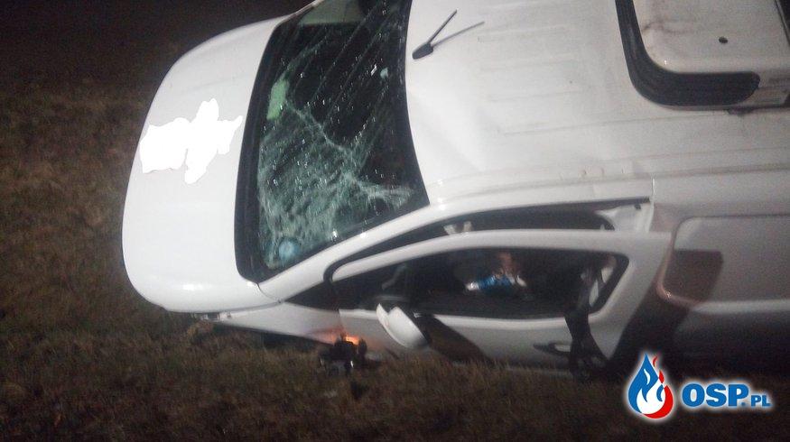 Wypadek dwóch samochodów na DK7 - 28 grudnia 2020r. OSP Ochotnicza Straż Pożarna