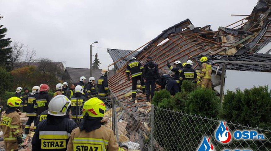 Nowe fakty po wybuchu gazu w Kobiernicach. Tragedia dotknęła strażaka PSP. OSP Ochotnicza Straż Pożarna