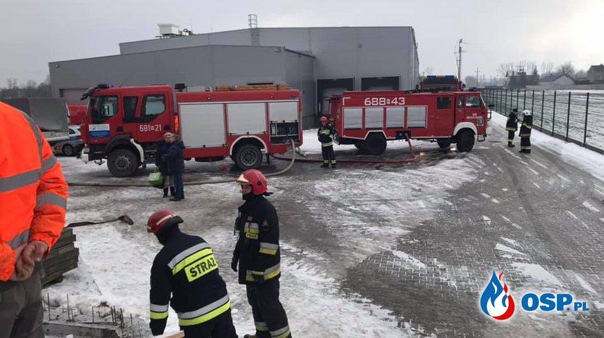POŻAR HALI OSP Ochotnicza Straż Pożarna