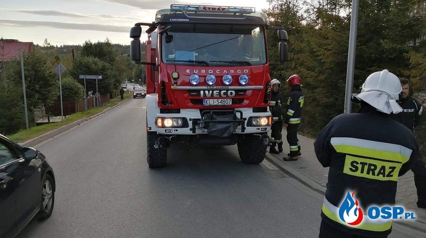 KOLIZJA SAMOCHODU Z MOTOCYKLEM OSP Ochotnicza Straż Pożarna