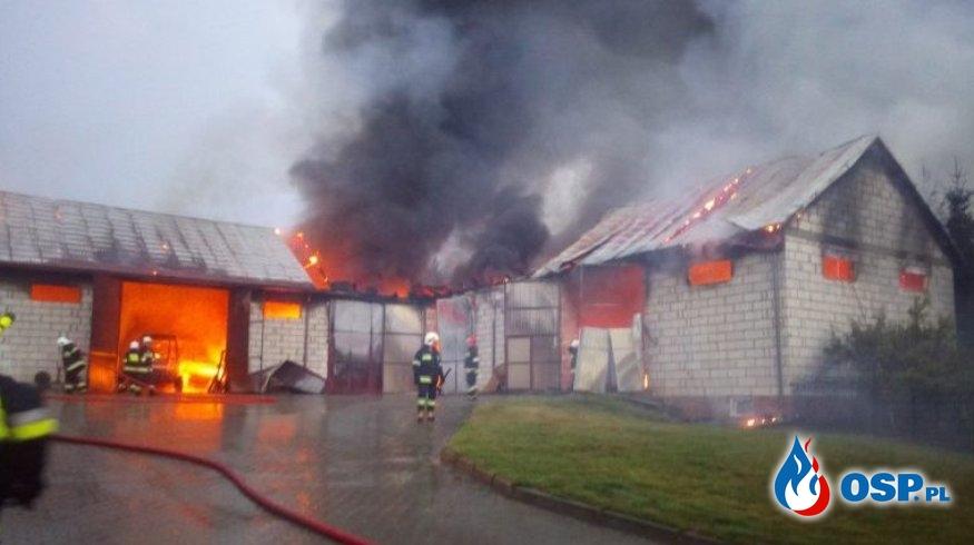Budynek, ciągniki i maszyny rolnicze spłonęły w pożarze na Lubelszczyźnie OSP Ochotnicza Straż Pożarna