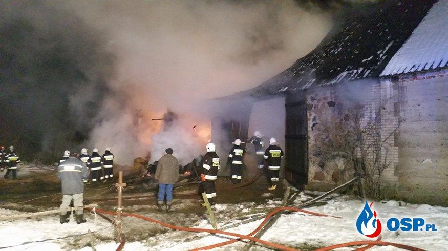 Pożar w gminie Grajewo OSP Ochotnicza Straż Pożarna