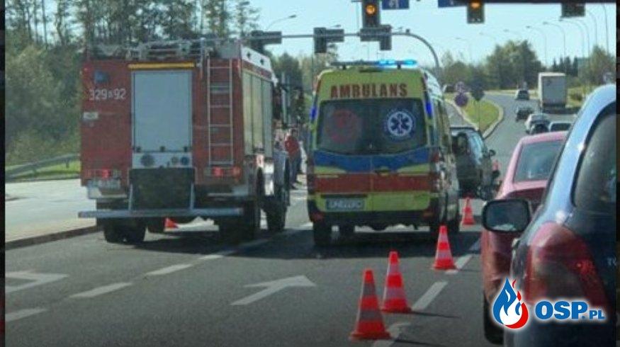 Wypadek 3 aut na DK97 OSP Ochotnicza Straż Pożarna