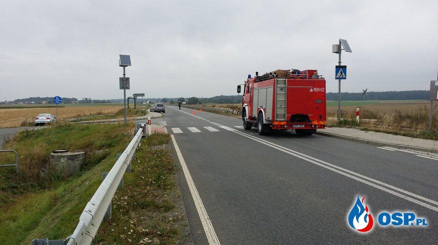 Wypadek na DW 414 Krobusz-Dębina OSP Ochotnicza Straż Pożarna