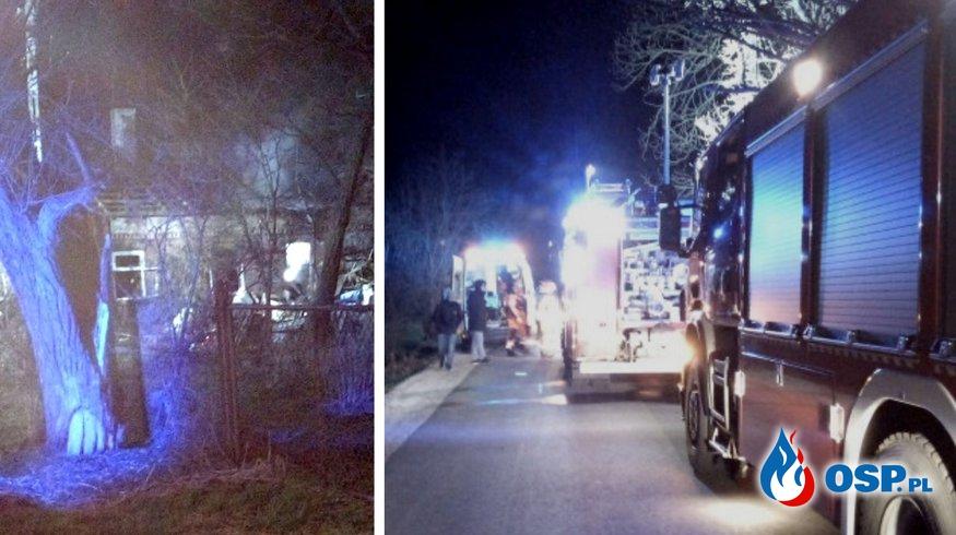 4 strażaków rannych podczas akcji gaśniczej w Matyldowie OSP Ochotnicza Straż Pożarna