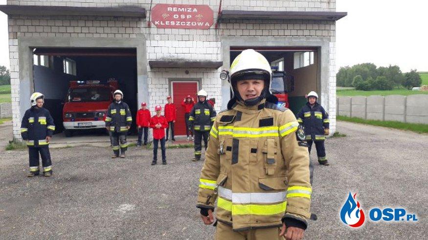 Strażak OSP Kleszczowa potrzebuje pomocy po wypadku OSP Ochotnicza Straż Pożarna