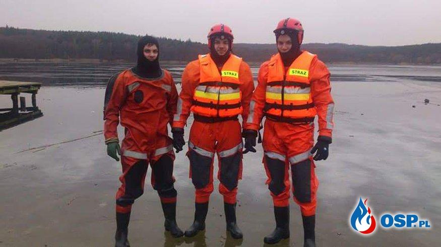 Ćwiczenia z ratownictwa lodowego OSP Ochotnicza Straż Pożarna
