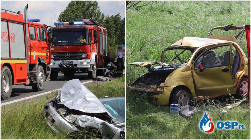 88-letni kierowca sprawcą tragicznego wypadku. Zginęły dwie osoby. OSP Ochotnicza Straż Pożarna