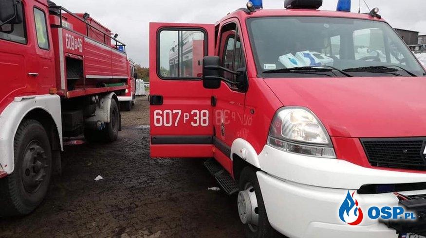 Pożar maszyny OSP Ochotnicza Straż Pożarna