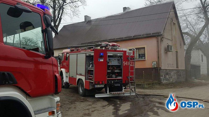 Pożar Piwnicy Gmina Biały Bór OSP Ochotnicza Straż Pożarna