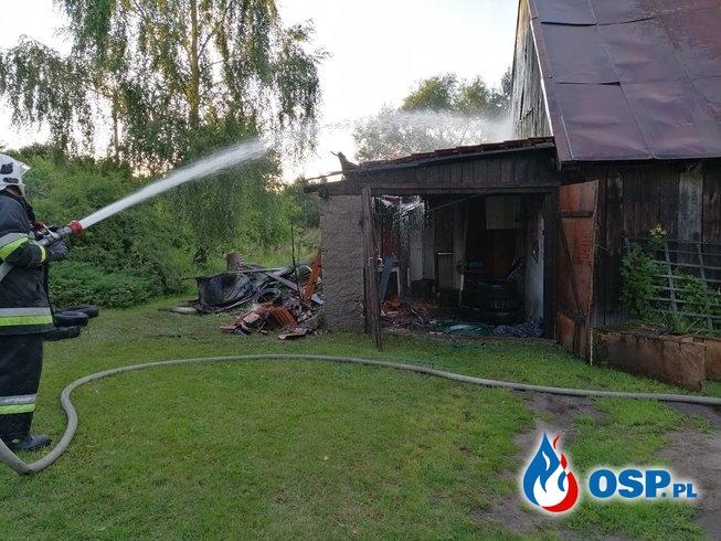 Pożar budynku gospodarczego w miejsowości Tyrowo OSP Ochotnicza Straż Pożarna