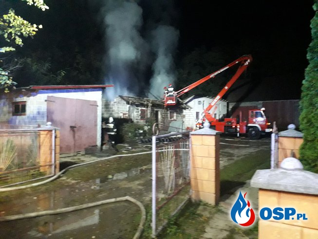 POŻAR BUDYNKU INWENTARSKIEGO OSP Ochotnicza Straż Pożarna
