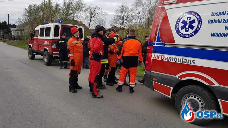 Szczęśliwy finał poszukiwań 80-latki w Spytkowicach OSP Ochotnicza Straż Pożarna