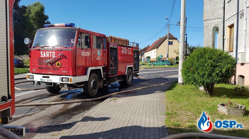 Pożar budynku Mieszkalnego 03-08-2018 r. Warcino OSP Ochotnicza Straż Pożarna