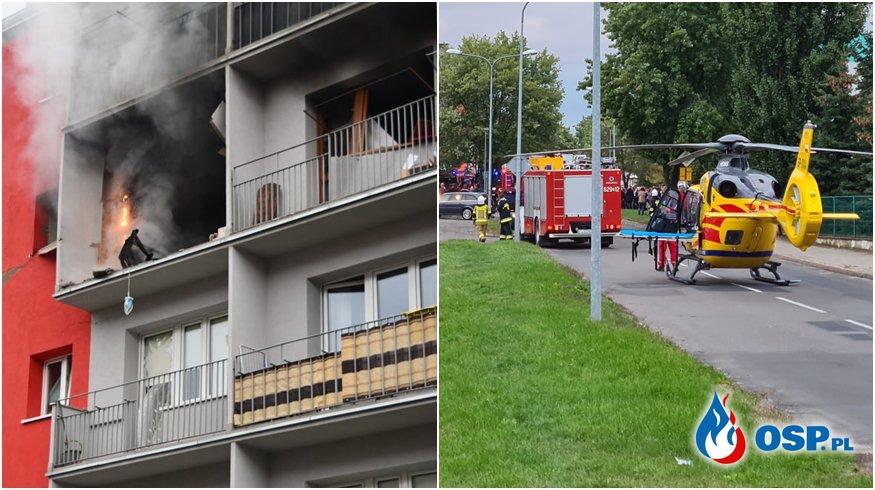 Trzy osoby ranne po eksplozji gazu w Turku. Wybuch zniszczył kilka mieszkań. OSP Ochotnicza Straż Pożarna
