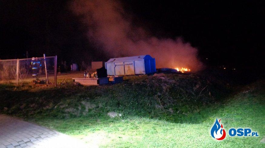 Pożar odpadów komunalnych przy ul. Cmentarnej OSP Ochotnicza Straż Pożarna