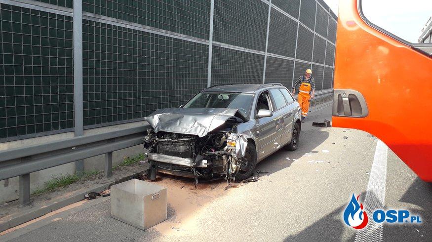 Wypadek drogowy A2 OSP Ochotnicza Straż Pożarna