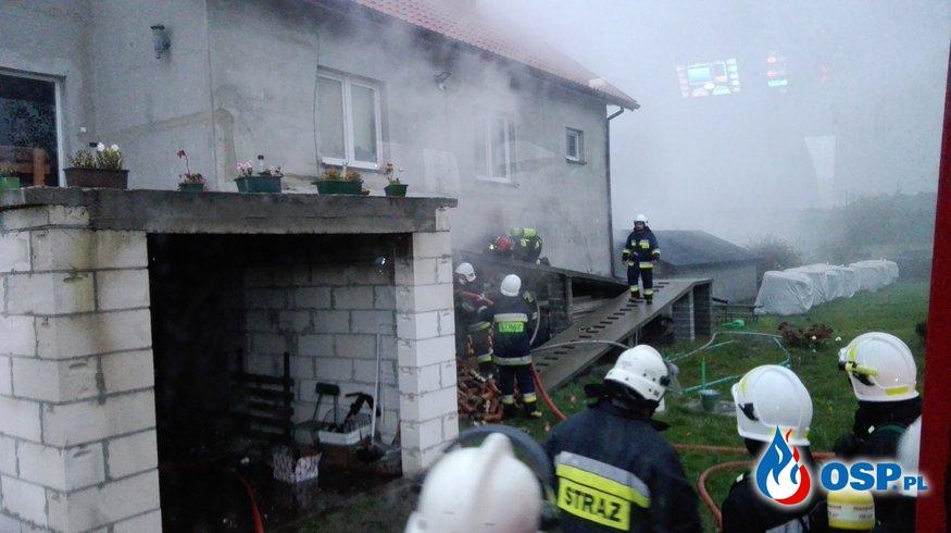 Pracowita noc - kolizja drogowa z dzikiem, pożar kotłowni, pożar budynku gospodarczego OSP Ochotnicza Straż Pożarna