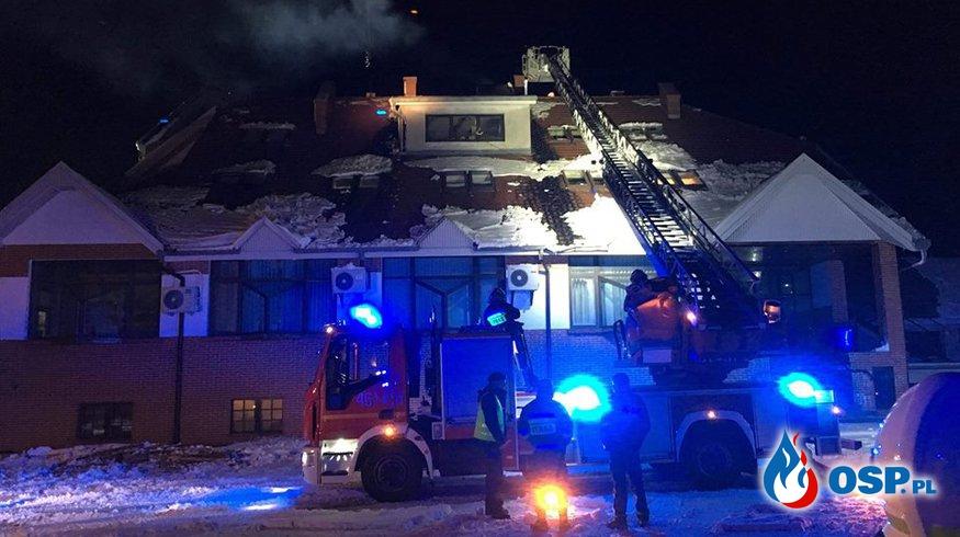 Pożar przewodu kominowego. OSP Ochotnicza Straż Pożarna