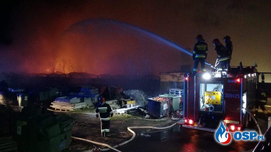 Pożar wysypiska śmieci OSP Ochotnicza Straż Pożarna