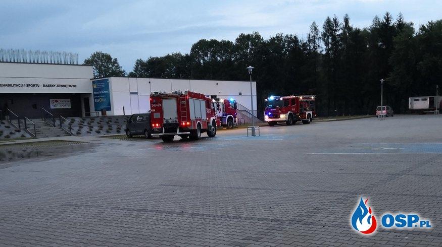 Intensywne opady deszczu skutkiem kilkugodzinnych działań ratowniczych OSP Ochotnicza Straż Pożarna