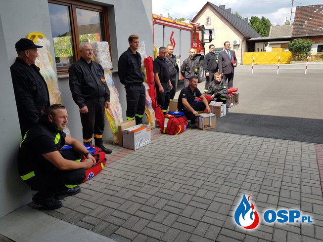 Nowy sprzęt dla jednostek z gminy Murów . OSP Ochotnicza Straż Pożarna