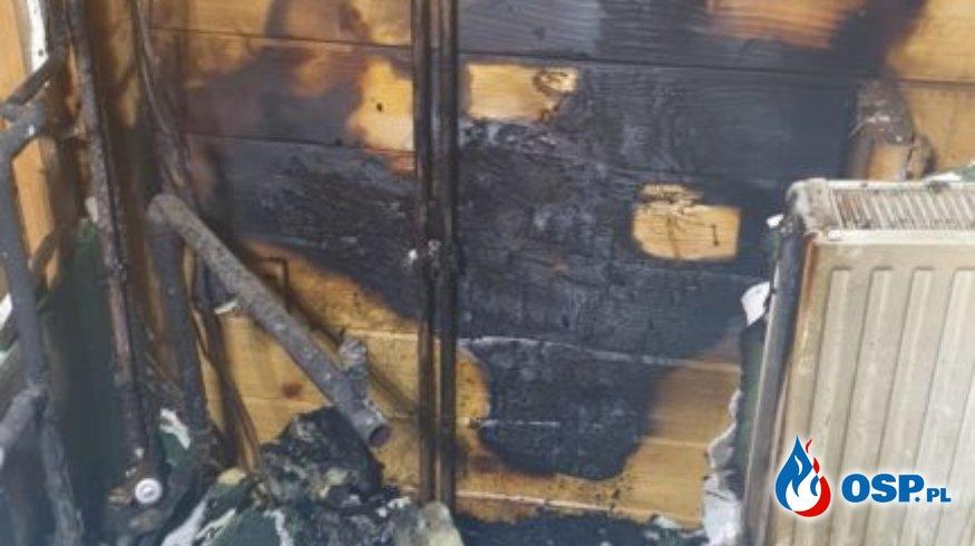 Obelzanki – pożar pomieszczenia gospodarczego OSP Ochotnicza Straż Pożarna