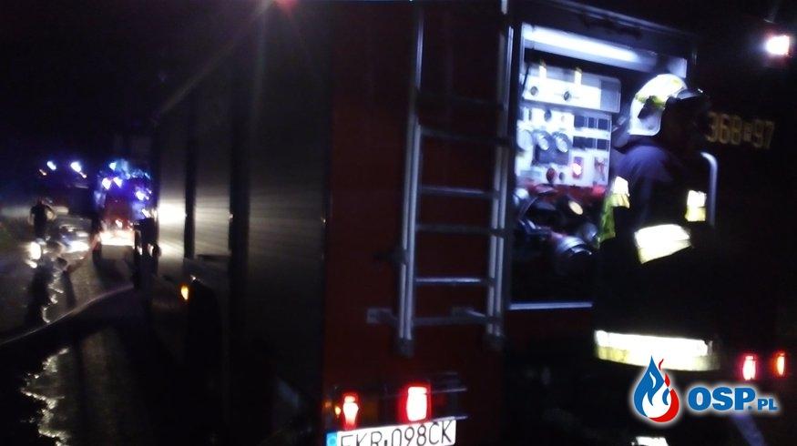 Pożar stodoły i słomy OSP Ochotnicza Straż Pożarna