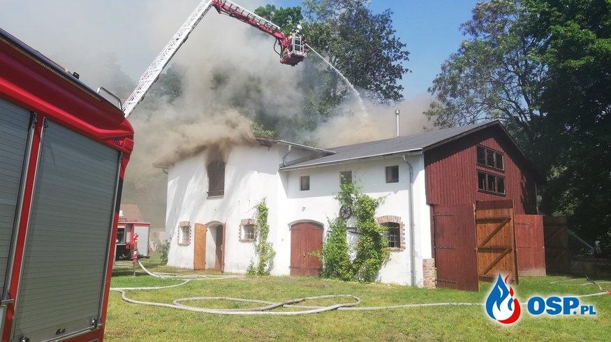 Pożar budynku mieszkalno-gospodarczego GRABIN 05.06.2019 OSP Ochotnicza Straż Pożarna