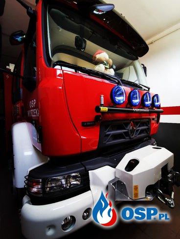 Powitanie nowego samochodu ratowniczo-gaśniczego. OSP Ochotnicza Straż Pożarna