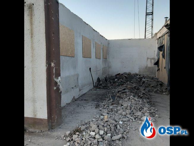 Trwają prace remontowe wewnątrz remizy. OSP Ochotnicza Straż Pożarna