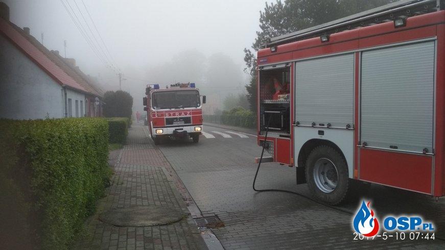 2019-05-10 godz. 7:30 Audi w płomieniach OSP Ochotnicza Straż Pożarna