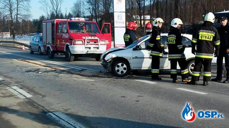 Wypadek w Biertowicach DK52 OSP Ochotnicza Straż Pożarna