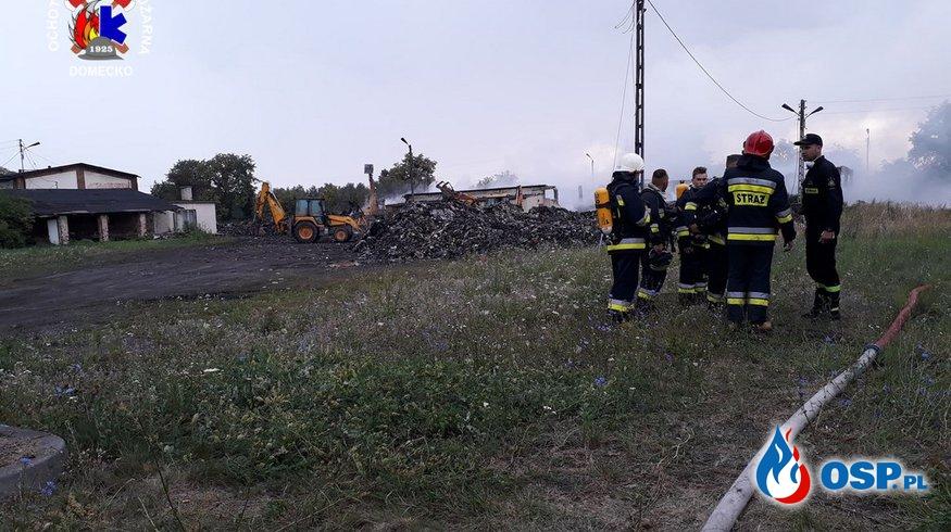Pożar śmieci w Dąbrowie OSP Ochotnicza Straż Pożarna