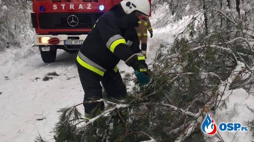 Obfite opady śniegu OSP Ochotnicza Straż Pożarna