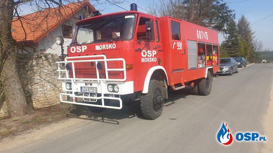 Pożar komina Morsko OSP Ochotnicza Straż Pożarna