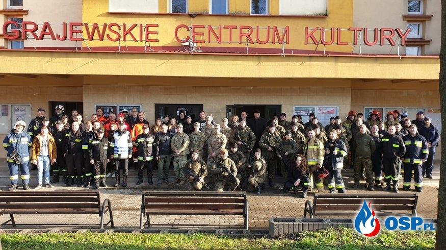 Strażackie ćwiczenia w Grajewskim Centrum Kultury OSP Ochotnicza Straż Pożarna