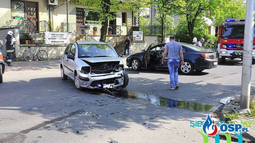 Wypadek na Broniewskiego OSP Ochotnicza Straż Pożarna