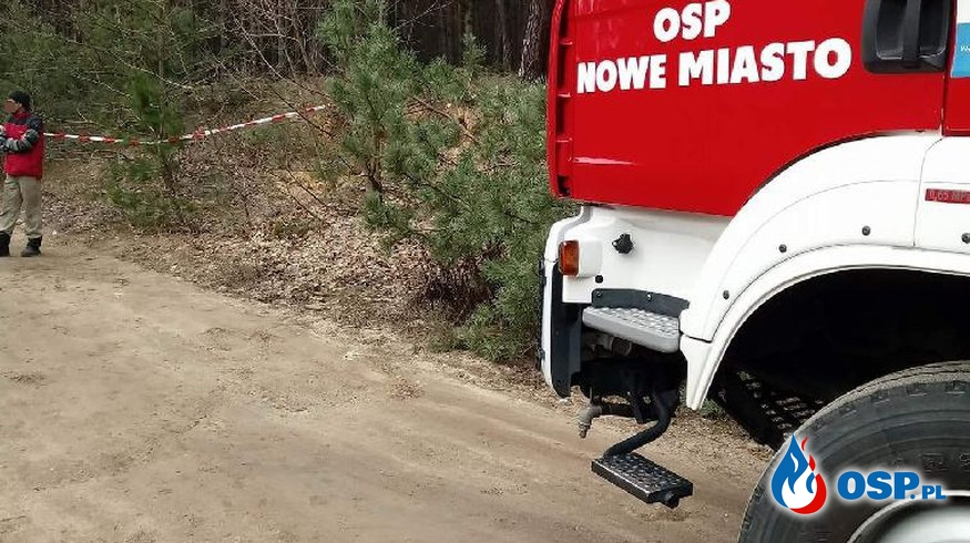 Zabezpieczenie miejsca zdarzenia OSP Ochotnicza Straż Pożarna