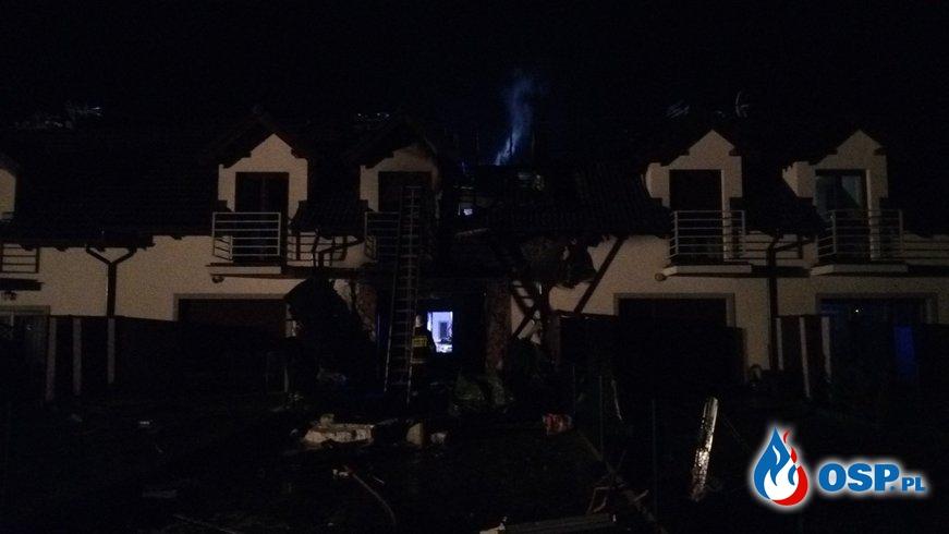 Pożar mieszkań w zabudowie szeregowej w Brodowie OSP Ochotnicza Straż Pożarna