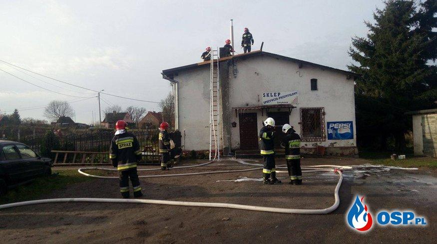 Pożar sadzy w Smykowie 18.11.2016 OSP Ochotnicza Straż Pożarna