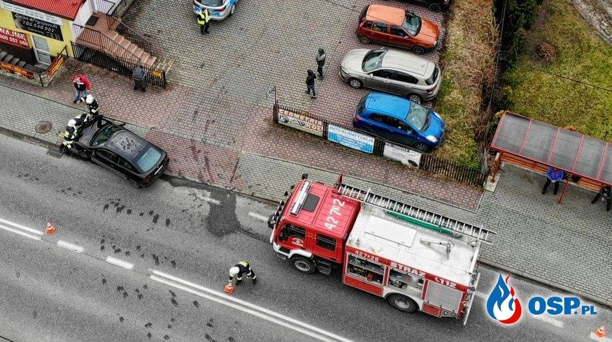Kolizja drogowa - ul. Krakowska w Babicach OSP Ochotnicza Straż Pożarna