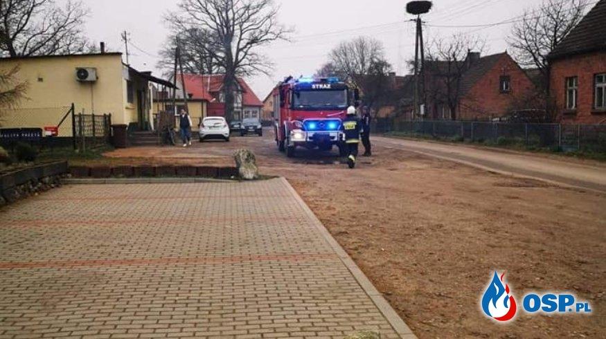 Gmina Biały Bór.Pożar Kotłowni w Grabowie OSP Ochotnicza Straż Pożarna