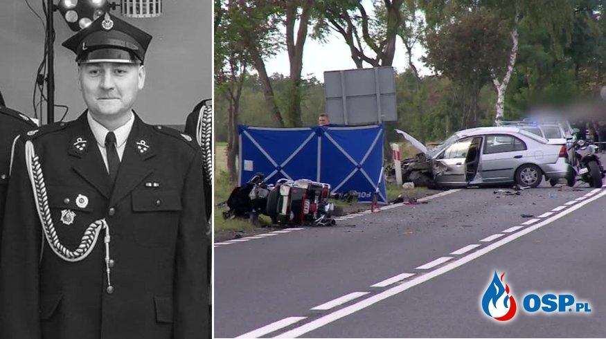 Naczelnik OSP Kłoda zginął w wypadku. 70-letnia kobieta wjechała w grupę motocyklistów. OSP Ochotnicza Straż Pożarna
