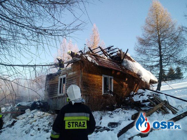 Pożar budynku mieszkalnego w Koszarawie Jałowiec OSP Ochotnicza Straż Pożarna