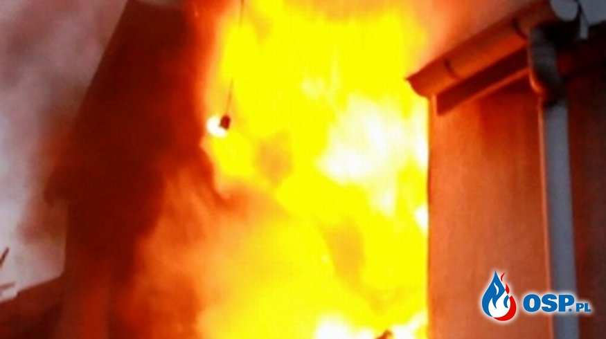 Pożar budynku mieszkalnego przy ul. Wojska Polskiego w Grajewie OSP Ochotnicza Straż Pożarna