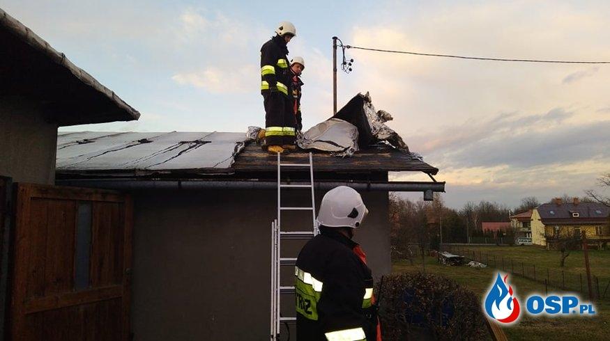 Orkan Sabina uszkodził dach OSP Ochotnicza Straż Pożarna
