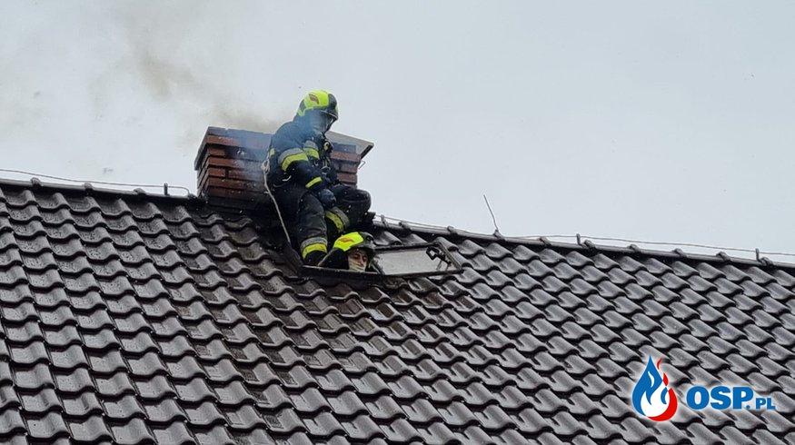 Pożar przewodu kominowego OSP Ochotnicza Straż Pożarna