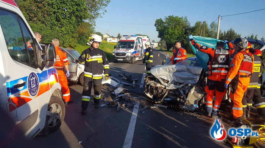 Śmiertelny wypadek w Nawojowej Górze, na krajowej 79! OSP Ochotnicza Straż Pożarna