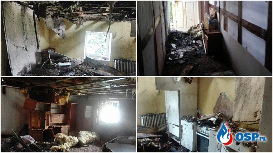 Pożar w domu strażaka OSP Zbylutów. Potrzebna pomoc. OSP Ochotnicza Straż Pożarna